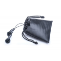 Premium Black Carry Drawstring Earphones Case