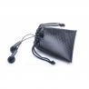 Premium Black Carry Drawstring Earphones Case