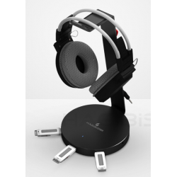 Headphone Stand with USB Hub (3 ports)