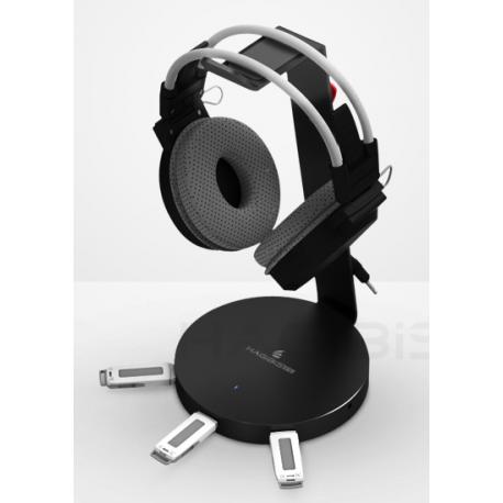Headphone Stand with USB Hub (3 ports)