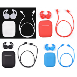 For Airpods Silicone Case, Ear tips & Strap Set
